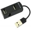 Концентратор USB Hub DeTech DE-V13 (DE-V13 Black)  новый